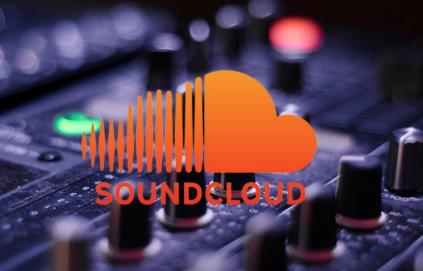 soundcloud icon on DJ desk